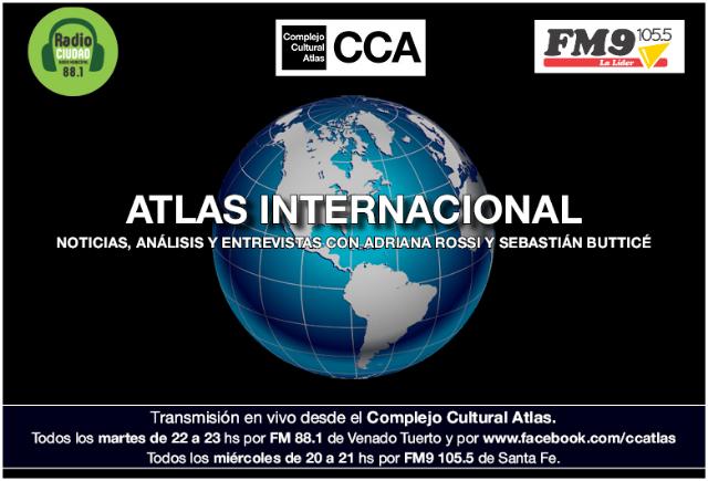Atlas Internacional. Programa de radio conducido por Adriana Rossi y Sebastián Butticé