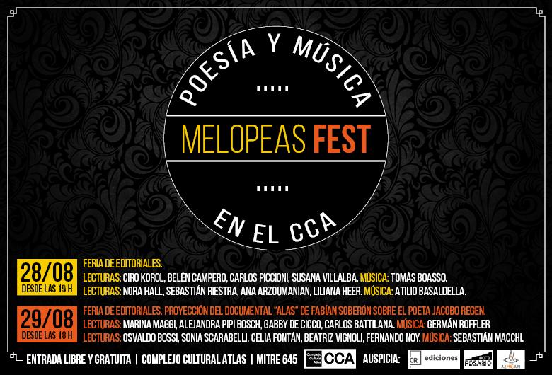 Melopeas Fest | Poesía y Música en el CCA