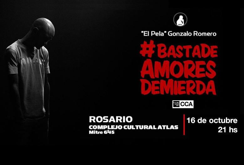 Gonzalo «El Pela» Romero presenta «Basta de Amores de Mierda»