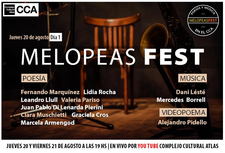 Melopeas Fest (Festival de Poesía y Música en el CCA)