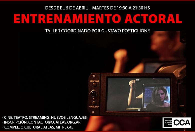 Taller de entrenamiento actoral coordinado por Gustavo Postiglione