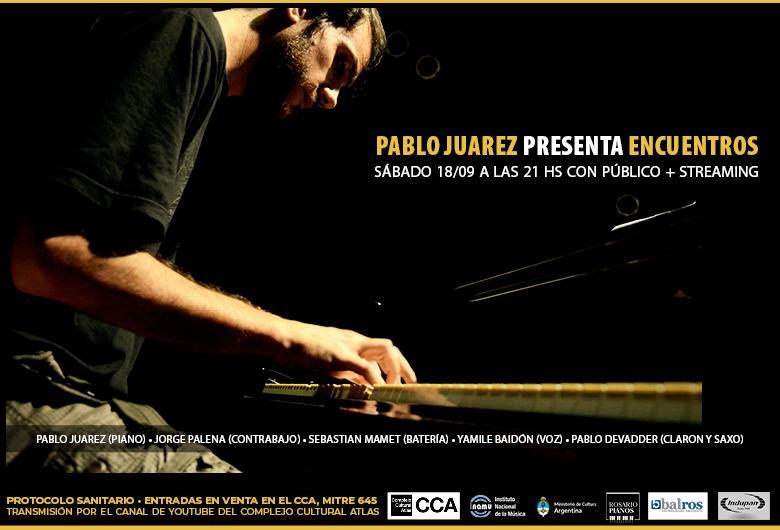 Pablo Juarez presenta el disco «Encuentros»