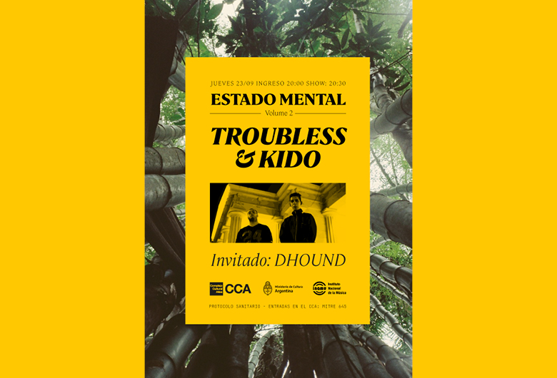 Show en vivo de Troubless, Kido y Dhound